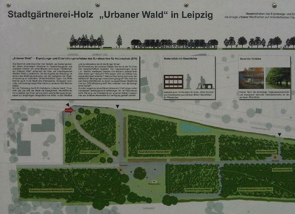 Infotafel am Eingang zum Stadtwald.