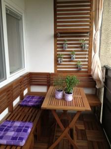 Sitzgelegenheit auf dem Balkon