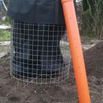 KG-Rohr zur Bewässerung des Erdbeerturmes